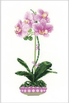 french chic Everything Cross Stitch - Lilac Orchid Counted Cross Stitch Kit Counted Cross Stitch Kits, Cross Stitch Charts, Cross Stitch Patterns, Cross Stitching, Cross Stitch Embroidery, Everything Cross Stitch, Heritage Crafts, Cross Stitch Pictures, Cross Stitch Flowers