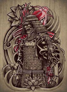 Samurai Koi Art Print by fathi Japanese Artwork, Japanese Tattoo Art, Japanese Tattoo Designs, Tattoo Designs Men, Badass Tattoos, Body Art Tattoos, Sleeve Tattoos, Mascara Hannya, Kabuto Samurai