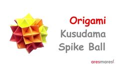How to make a Kusudama Spike Ball Cuboctahedron ,designed by Rona Gurkewitz and Bennett Arnstein, with twelve square papers. Origami Folding, Origami Art, Paper Folding, Origami Geometric Shapes, Paper Art, Paper Crafts, Origami Tutorial, Creative, How To Make