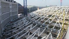 Image result for kings cross station roof london construction Tree Structure, Roof Architecture, Fair Grounds, Construction, London, Image, Travel, Building, Viajes