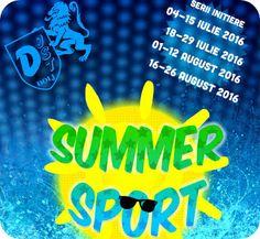 Summer Sport - initiere in 7 sporturi in Craiova Summer Sport, Aloe Vera, Logos, Natural, Sports, Hs Sports, Logo, Sport, Nature