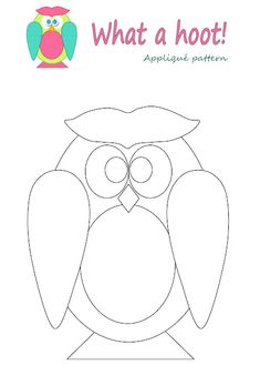 What a Hoot! free applique pattern by Megan N