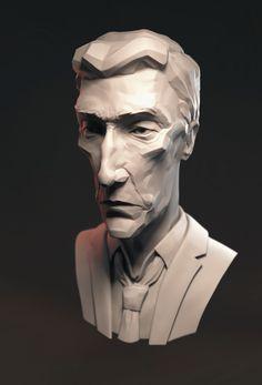 Detective Rust Cohle, Mathieu Girard on ArtStation at https://www.artstation.com/artwork/Q5xDB