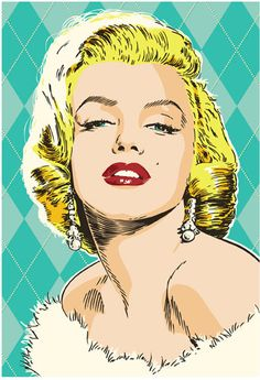 Marilyn Monroe Pop Art Print by RedRobotCreative on Etsy