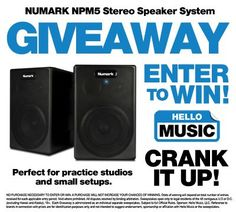 Hello Music is giving away Numark NPM5 Stereo Speaker System! Enter to win here: http://www.hellomusic.com/giveaways/