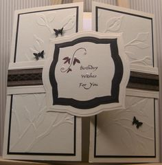 MISSY G DESIGNS: Card Making Class - Week5 - Joyfold and Gatefold cards