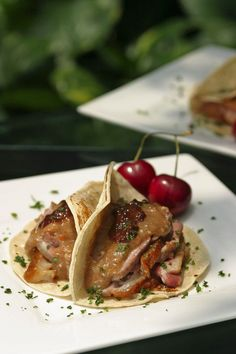 Easy Dinner Recipes: Duck Tacos with Chile-Cherry Compote