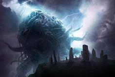 ArtStation - Lovecraft's The Dunwich Horror, Joseph Diaz Dark Fantasy Art, Sci Fi Fantasy, Arte Horror, Horror Art, Zooey Deschanel, The Dunwich Horror, Supernatural, Lovecraftian Horror, Hp Lovecraft
