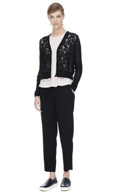 Rebecca Taylor Lace Front Cardi