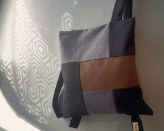 Convertible city backpack Crossbody bag Red & black waterproof canvas bag Chic women bag Stylish lightweight bag Unique gift for her Designer Messenger Bags, Lightweight Backpack, Convertible Backpack, Unique Gifts For Her, Brown And Grey, Gray, Beige, Day Bag, Canvas Leather