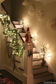 Turn on the string lights, light a candle and set a roaring fire. Step inside this Christmas Lights Night Home Tour and see a magically decorated home.
