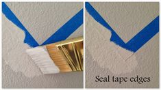 Life As Always: Live & Learn -- How To Paint Chevron Stripes - great tip to paint over tape in base color first, THEN in the accent color to prevent paint under tape Accent Colors, Wall Colors, Paint Chevron Stripes, Striped Room, Diy Wall Painting, Kids Room Paint, Baby Boy Rooms, Wall Patterns, Learn To Paint