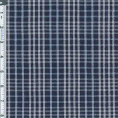 Light-weight, semi-sheer plaid woven with seersucker stripe texture. Perfect for shirtings, warm weather dresses, and children's clothes, use a lining if full coverage is desired. Machine wash, tumble dry or air dry, no bleach. Fabric is sold by the yard - to order, select the desired quantity of yards from the drop-down list, each yard will show in your shopping cart as an item but they will ship as one continuous piece; shipping from Designer Fabrics Warehouse is $6.95 per total or...