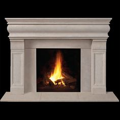 Brighton Classic Stone Fireplace Mantel - MantelsDirect.com