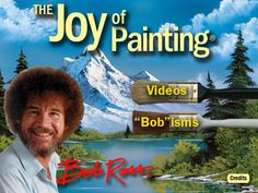 """There's Now a Bob Ross """"The Joy of Painting"""" App #art #painting #app #BobRoss"""