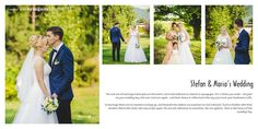 Spread from Stefan and Maria's wedding album