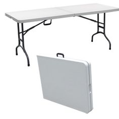 Palm Springs Folding Portable 8ft Party Table - Image 1