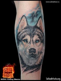 Love a special Husky dog and want to memorialize him? Check out some of our favorite Husky tattoos for men below. Wolf Tattoos, Back Tattoos, Animal Tattoos, Body Art Tattoos, Sleeve Tattoos, Tattoo Art, Tatoos, Husky Tattoo, Husky Drawing