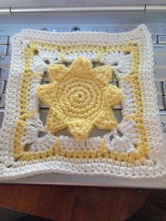 Ravelry: Project Gallery for I've Got Sunshine 6 Inch Square pattern by The Perfect Knot - Michelle Kovach