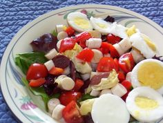 This recipe has been adapted from another cooking site.  It was billed as the South Beach Salad.  I dont know if the changes I have made have changed that or not.  It is delicious and made a wonderful and different salad to serve for guests.