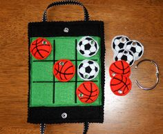 IN The Hoop Tic Tac Tote Ball Game Embroidery/Applique machine design. $3.99, via Etsy.