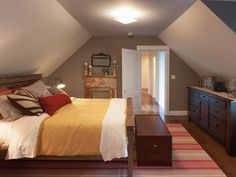 """A cozy suite, tucked away on the second floor, boasts a Maine-inspired """"lodge living"""" design theme selected by online voters."""