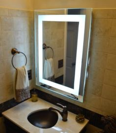 Wall Mounted Lighted Vanity Mirror Led Mam84836 Commercial Grade 48 X36 Mirrors And Marble Http