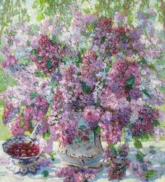 Victoria, Lilacs, Plants, Painting, Art, Paintings, Art Background, Lilac, Painting Art