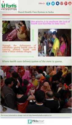Our mission is to eradicate the lack of health care facilities in rural India.