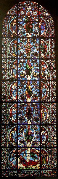 France, Chartres Cathedral, the oldest known Jesse Tree window, c.1145