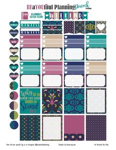 Ok this is the new printable for the week. I am working on adding a Happy Planner Printable, hopefully it will be ready for the next set. I did include a personal sized printable. Please comment an… To Do Planner, Passion Planner, Free Planner, Planner Pages, Happy Planner, Planner Sheets, Planner Bullet Journal, Printable Planner Stickers, Free Printables