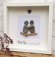 Thank you for being my Rock Cornish Pebble Art Picture
