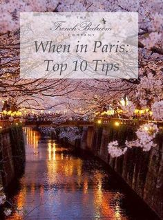 This week over on the French Bedroom Company blog we've enlisted the help of our in-house Parisienne, Milene, to give us her top tips for visiting her home city of Paris.  including tips on where to eat in Paris, what to visit and what to avoid. She lists a river cruise on the River Seine as a must do - especially when it's as beautiful as this with pink blossom over the river in Paris