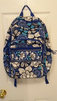 c95855f57938 Vera Bradley Campus Backpack in Blue Bayou pattern great condition  fashion   clothing  shoes