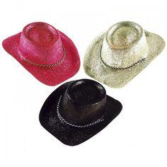 Cappello Cow-Boy con Glitter - Colori Vari