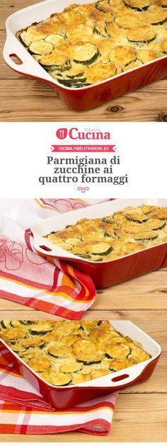 Parmigiana di #zucchine ai quattro #formaggi