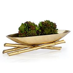 Golden Bamboo Bowl - 2PC | Bowls & Plates | Decorative Accessories | Accessories | Decor | Z Gallerie