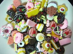 50pc assorted mix of decoden cabochons, minature sweets kawaii pastry cabochons on Etsy, $20.00