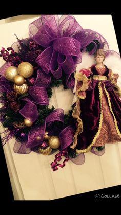 Purple Chrismas wreath