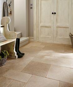 49 Ideas For Bath Room Brown Tile Floor Marbles Beige Room, Tiled Hallway, Hall Tiles, Topps Tiles, Limestone Flooring, Bathroom Floor Tiles, Kitchen Flooring, Kitchen Tiles, Hall Flooring
