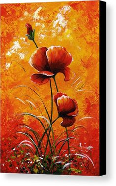 Red Painting - Red Poppies 023 by Edit Voros Modern Art Movements, Acrylic Painting Flowers, Red Poppies, Painting Inspiration, Canvas Art, Canvas Size, Art Drawings, Art Prints, Artwork