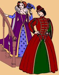 This is the pattern I'm going to use to make my dress for the wedding at the Renaissance Faire.