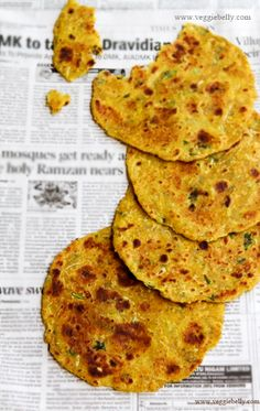Lauki Thepla - Spiced Indian flat bread - Veggie Belly
