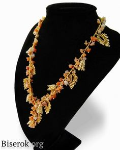 Easy Russian leaf necklace - component tutes.  #Seed #Bead #Tutorials