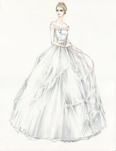 Kitty's dress is partially inspired by a Victorian-era children's outfit, with soft pink rosette detail and a bell silhouette. #AnnaKarenina