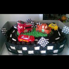 Cars race track cake!