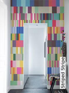 Raumbild Fototapete, Tapeten, Raum, Farblich Abgesetzte Wände, Blau Weiße  Tapete,