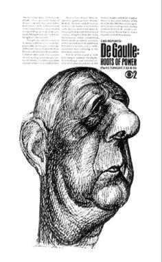 Lou Dorfsman (designer) Edward Sorel (Illustrator, Ad for CBS reports, Cultura Pop, Corporate Design, Corporate Identity, Communication Problems, Visual System, New York School, Newspaper Design, Design System, Typography