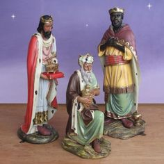 "African American Three Kings 54"" Outdoor Nativity Set-Balthazar, Melchior and Gaspar, beautifuly and elegantly crafted. The Wise Men bring gifts of frankincense, myrrh and gold to the Baby Jesus. These Three Kings are part of the 4 foot scale Nativity Scene from the Bay Designs Collection. $1,259.00 Ask about layaway. http://www.christmasnightinc.com/c73/c39/c260/African-American-Three-Kings-54-scale-Outdoor-p1298.html#"