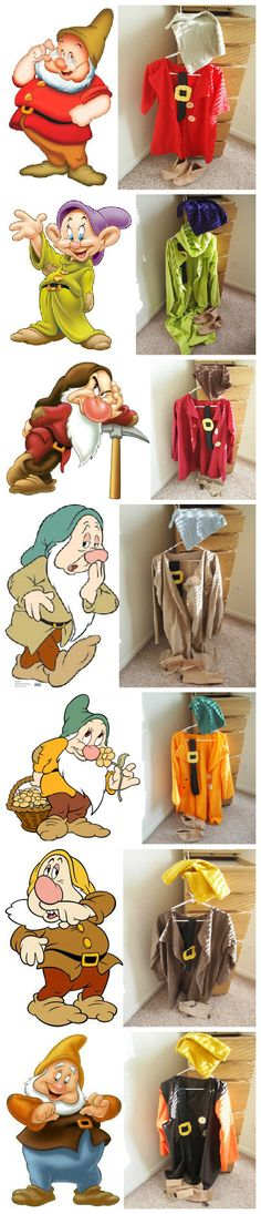 This could be another way to help kids express emotions. Use the dwarfs in costume, or even just pictures!